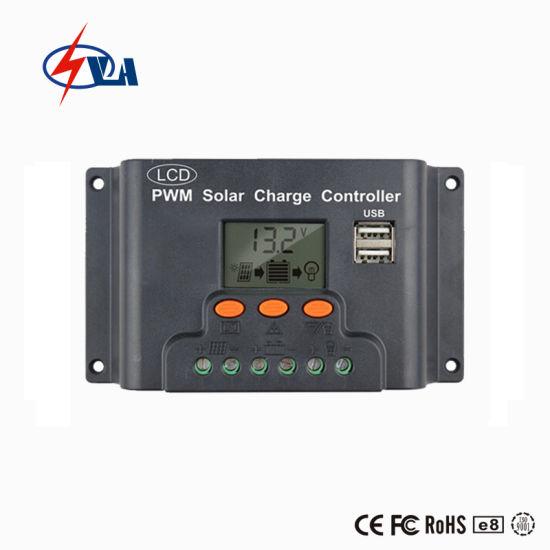 LCD Display 10A 12/24V Solar Regulator with USB