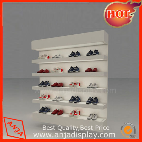 957365a72486 China Retail Wooden Shoe Displays Wall Rack Designs for Store ...