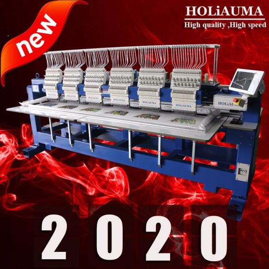 Holiauma 2018 Newest 12 Needles 6 Head Computerized Tajima Embroidery Machine Free Embroidery Designs Brother Type with Good Embroidery Machine Price