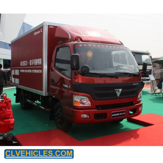 2ton Foton Mini Box Truck Cargo Trucks