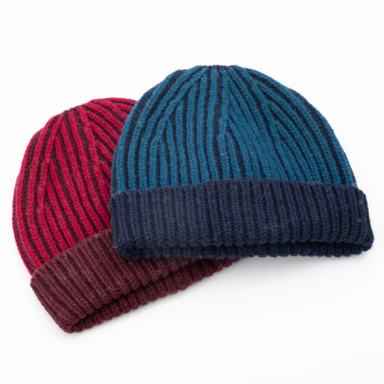 Men's Outdoor Fashion 30%Wool70%Acrylic Knitted Hat