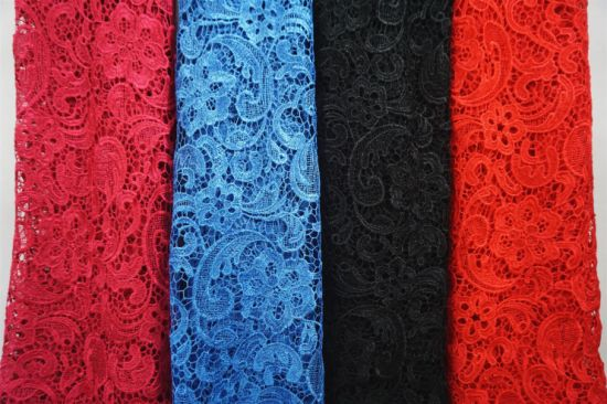 Wholesale More Colors embroidery Lace Fabric for Dress pictures & photos