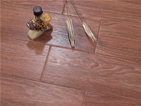 China Herringbone Pattern Wood Look Ceramic Wood Tile Floor
