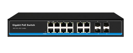 8 Ports Poe Switch with 4 SFP Fiber Uplink Ports Ce/FCC/RoHS/Reach Certified pictures & photos