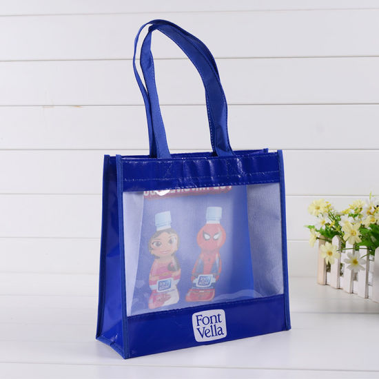 Customized Recylable PP Non-Woven Shopping Carrier Grocery Bag, Promotional Nonwoven PVC Bottle Packing Gift Bags