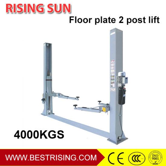 Base Floor 4ton 2 Post Vehicle Lift for Car Workshop
