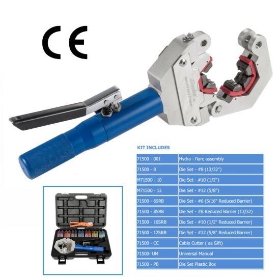 Igeelee Ig-71500 Hydraulic A/C Crimping Tool Hydraulic Tool for Barbed and  Beaded Hose Fittings for Car Repair