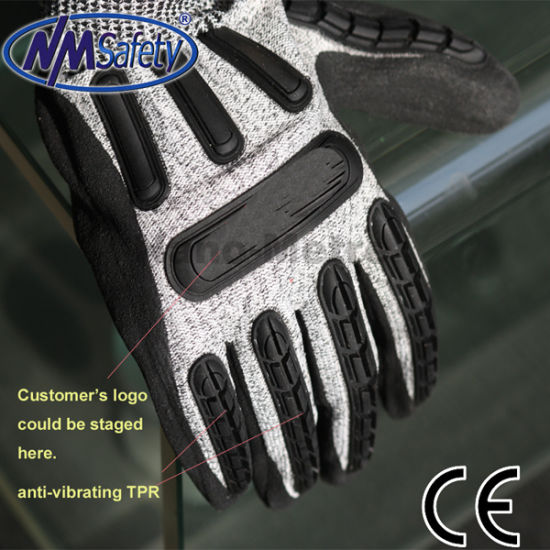 Nmsafety High Quality TPR Impact Resistant Mechanical Gloves pictures & photos