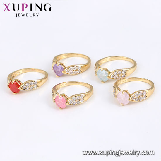 15275 Fashion Women Luxury 14K Gold-Plated Imitation Jewelry Finger Ring in Copper Alloy pictures & photos