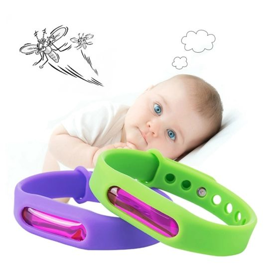 Silicone Natural Mosquito Repellent Wristband Bracelet. pictures & photos