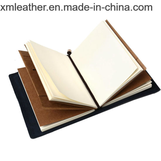 Handmade Journal Refillable Travel Diary Notebook with Elastic Strap