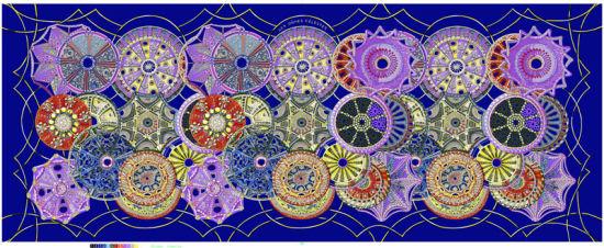 Custom Patterns Colorful Digital Printing Silk Georgette Scarf for Women