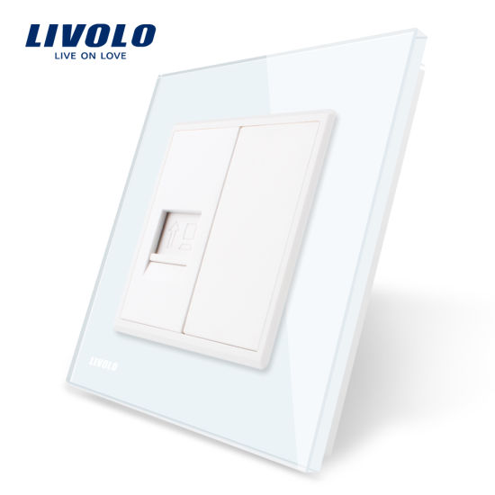 China Livolo EU Standard One Gang Computer Socket Wall Outlet Vl ...