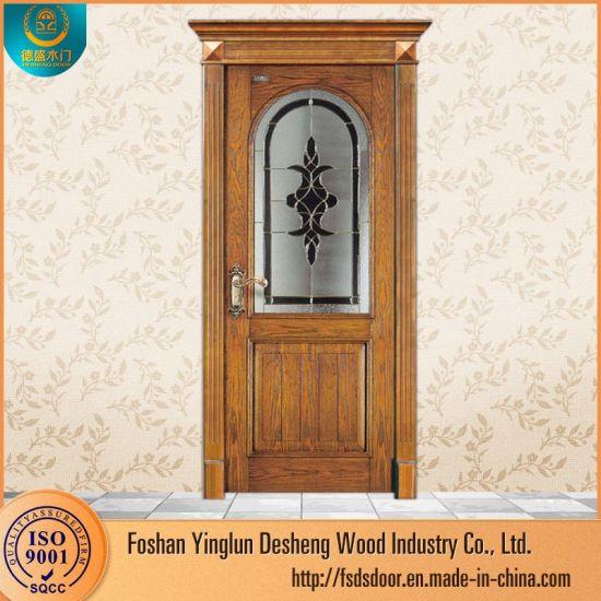 China Desheng Wooden Exterior Doors With Windows Pictures Egypt China Wooden Door Mdf Door
