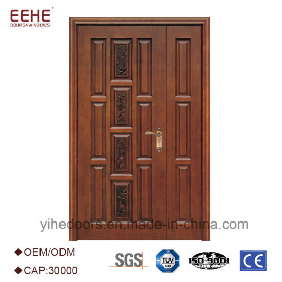 Exterior Wooden Entry Doors Wood Door French with Unequal Double Leaf  sc 1 st  Guangdong EHE Doors u0026 Windows Industry Co. Ltd. & China Exterior Wooden Entry Doors Wood Door French with Unequal ...