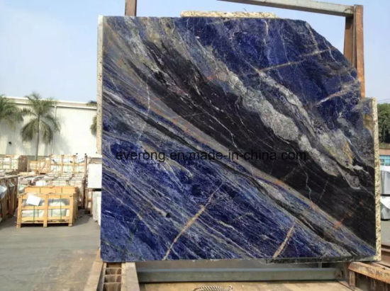 China Natural Luxury Blue Marble Slab For Wall Tile And Flooring