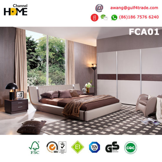 High Quality Elegant Modern Wooden Bed for Bedroom (FCA03) pictures & photos