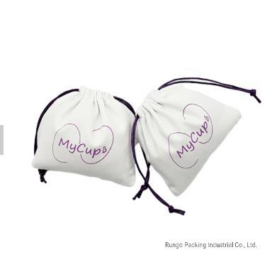Fashion Waterproof Carrying Bags Organic Canvas Drawstring Bag