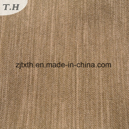 Plain Style 100% Polyester Linen Look Fabric for Sofa pictures & photos