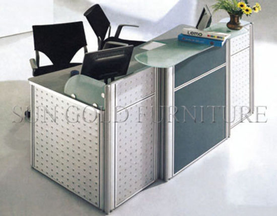 Wooden Furniture Office Counter Table Design Small Reception Desk (SZ-RTT001) pictures & photos