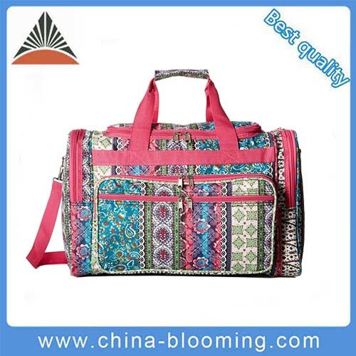 Ladies Outdoor Colorful 600d Polyester Duffel Luggage Travel Bag pictures & photos
