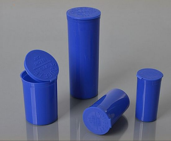 60dr Pop Top Squeeze Container for Medicine Use