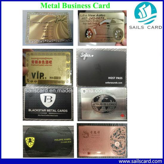 China Customized Classic Vip Card Metal Business Card Free Sample