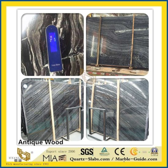 Natural Polished Athens Wood Grey Stone Marble for Kitchen/Bathroom/Wall/Flooring/Step/Tile/Cladding pictures & photos