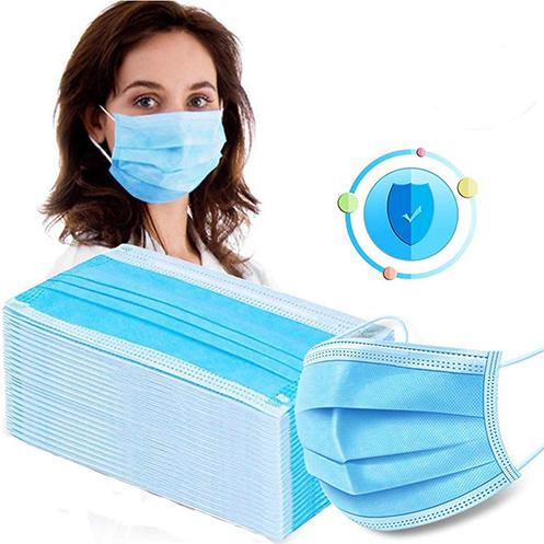 Ready to Ship 3 Ply Facemask Non Woven Disposable Face Mask