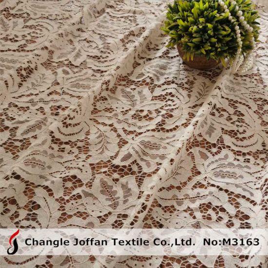 Fashion Garment Fabric Textile Lace Fabric Cotton Lace (M3163)