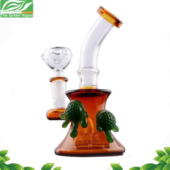 Wholesale Amber Tobacco Smoking Glass Water Pipe