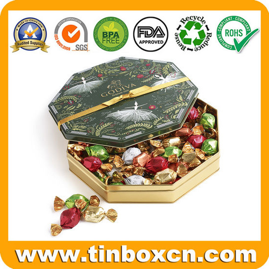 Christmas Tree Shape Metal Chocolate Tin for Gift Packaging Box pictures & photos