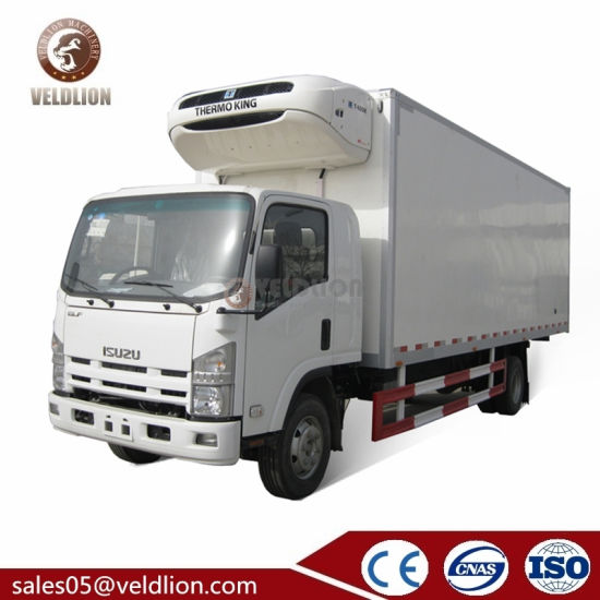 Isuzu 2 3 4 5 6 7 8 10 Ton Refrigerated Freezer Foton Mini Refrigeration Small Refrigerator Van Box Truck for Meat and Fish for Sale
