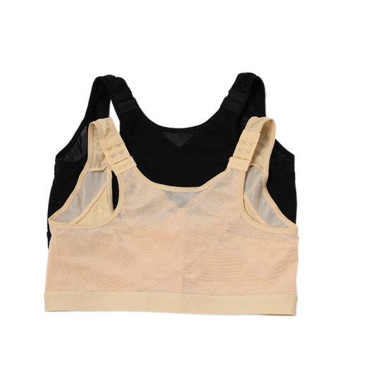 Custom Logo Womens Workout Tank Tops Posture Adjustable Back Support Posture Corrector Sports Bra Women Sportswear Unpadded Bra for Women
