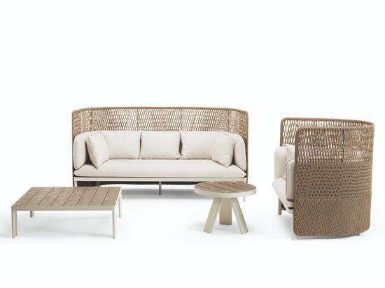 High Quality Round Rattan Outdoor Garden Wicker Sofa