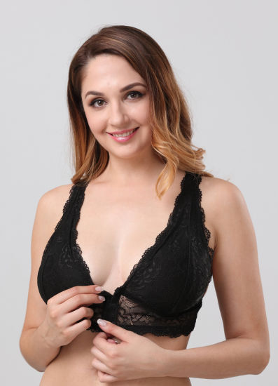 2e160106f China Plus Size Front Closure Sexy Bra with Hook in Front - China ...