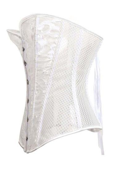 386fbaf50e Lace Corset Sexy Bustier Mesh Corselet Summer Underwear Clothing Black White  Lingerie