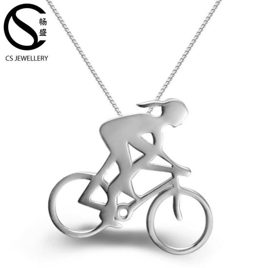 Jewelry Wholesale Running Woman Sport Pendant Necklace