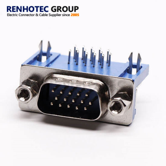15 Pin D Sub Male Pinout Connector Right Angle for PCB Connector
