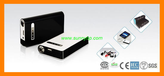 15000mAh Polymer Battery Manual Mobile Power Bank with Cable (SBP-JS-03)