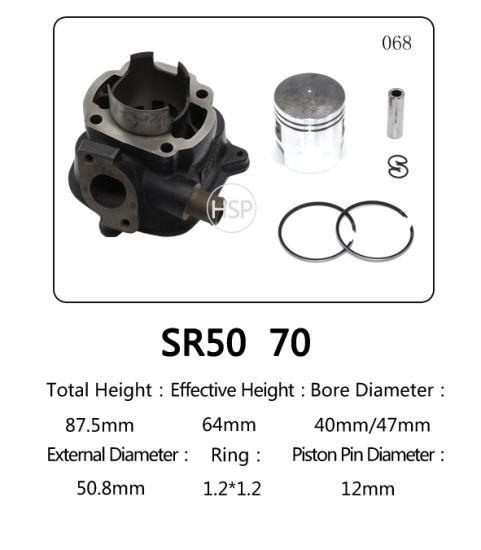 Scooter Engine Parts Motorcycle Cylinder Block Kit for YAMAHA SR50 SR70