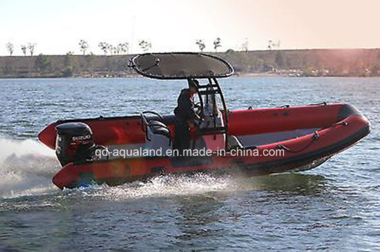 Aqualand 21feet 6.4m Rescue Patrol Rib Boats/Rigid Inflatable Military Boat (rib640t) pictures & photos