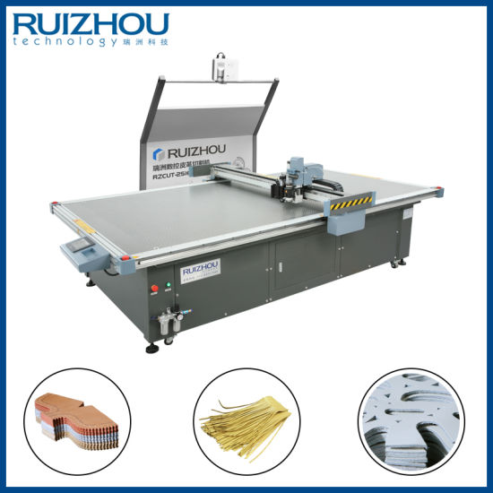 CNC Oscillating Knife Cowhide Leather Cutting Machine pictures & photos