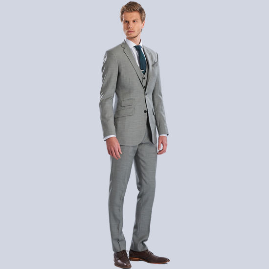 Men Slim Fit Wedding Fashion Two Button Jacket + Pants