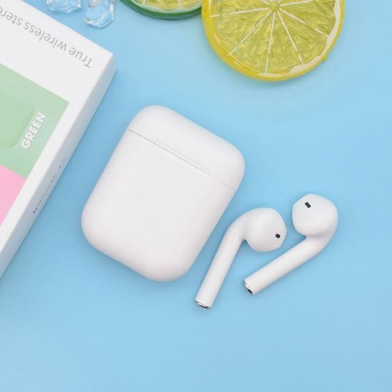 Macaron Inpods 12 Tws Earphone, Frosted Touch Sense Macaroon Color Handsfree Earbuds I12 Wireless /Wired Stereo Bluetooth Earphone for Cheap Mobile Phone