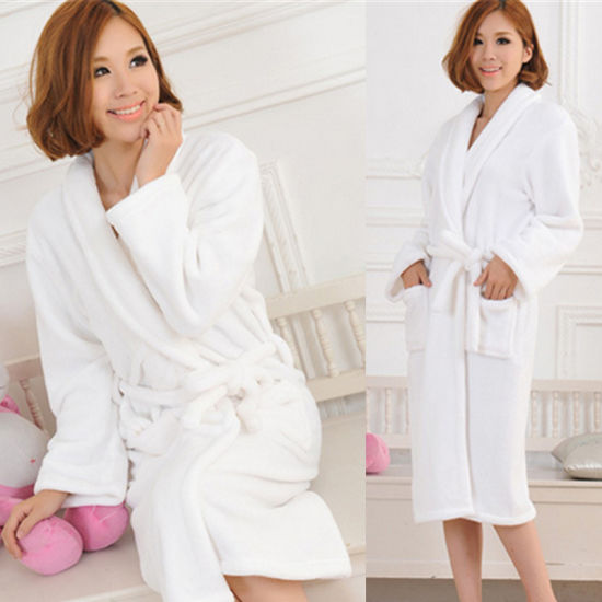 Cotton 100% Cut Pile Waffle Terry Cloth Bath Robe (BA-004) Manufacturer pictures & photos