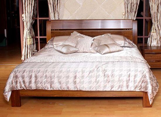 Solid Wooden Bed Modern Beds (M-X2225)