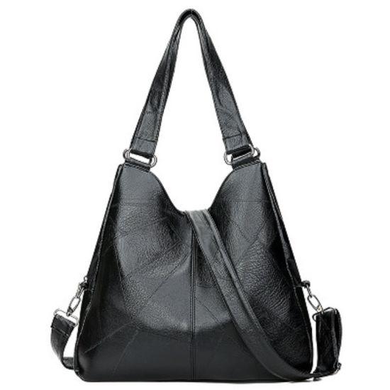 Women's Soft PU Leather Tote Bag Shoulder Bag - Big Capacity Hobo Crossbody Handbag with 3 Compartments for Work Travel Esg13715