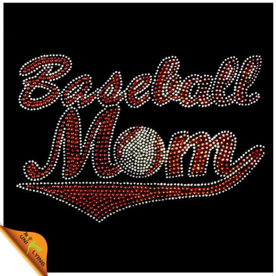 63e8e28a09 China Baseball Mom Design Rhinestone Hotfix Motif Wholesaler (SP ...