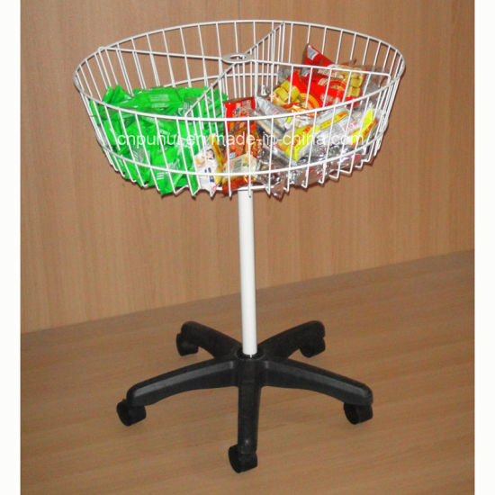 Supermarket Bulk Products Promotion Rolling Round Storage Basket (PHY550)